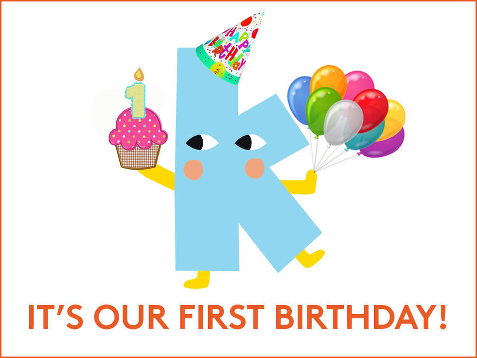 It's Kinderling's first birthday! — Kinderling Kids Radio